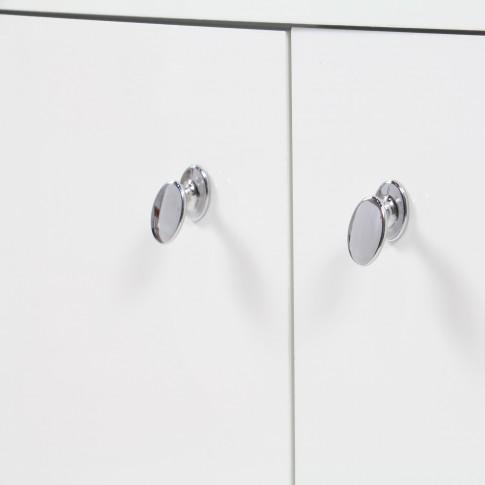 Masca baie pentru lavoar, Martplast Larissa, cu sertar si usi, alba, 60 x 34 x 72 cm