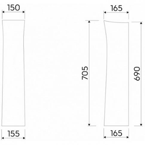 Piedestal lavoar, Kolo Solo / Idol 77000, 16.5 x 70.5 cm