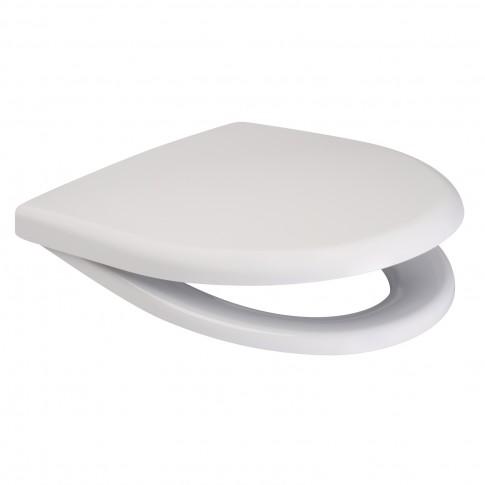 Capac WC din duroplast, Cersanit Delfi K98-0001, alb, inchidere standard