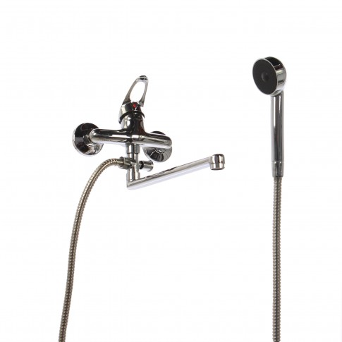 Baterie baie pentru cada / dus, 11006 110 + accesorii, montaj aplicat, monocomanda, finisaj cromat