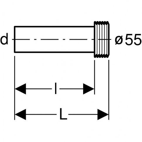 Set conexiune conducta spalare WC, Geberit 152.434.16.1, 18.5 cm