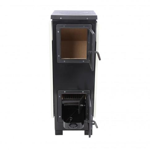 Soba metalica, pe lemne, Caldi Alpin 07, 5 kW, 910 x 385 x 385 mm