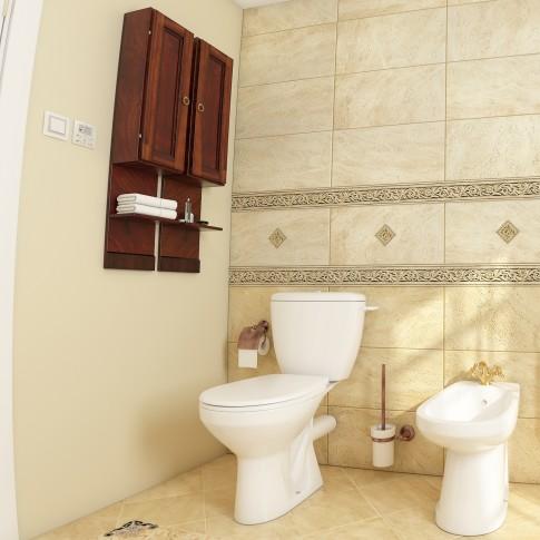 Dulap baie suspendat, Cinzia 7056 DX, 1 usa, lemn masiv, 20 x 102 x 16 cm