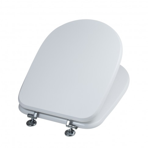 Capac WC din MDF, Savini Due Aretusa Cwata, alb, inchidere standard, 360 x 460 mm