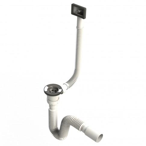 Sifon mic Doruq, cu preaplin, pentru chiuveta cu 1 cuva, plastic, diametru 31.75 mm