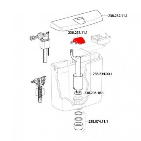 Buton actionare apa, pentru rezervor AP 110 Rio, Geberit 238.233.11.1