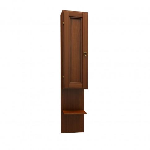 Dulap baie suspendat, Cinzia 7056 SX, 1 usa, lemn masiv, 21 x 102 x 16 cm