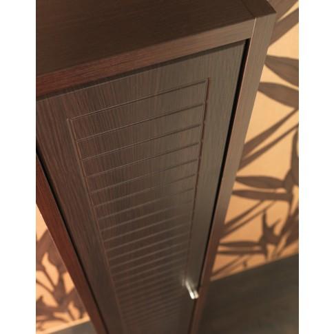 Dulap baie pe sol, 1 usa, Cersanit Mocca S544-004, wenge, deschidere pe stanga / dreapta, 190 x 35 cm