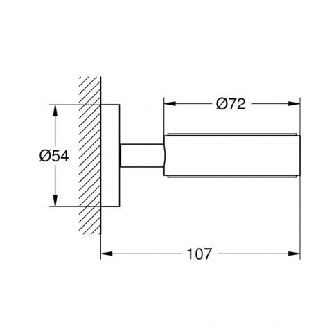 Suport pahar / sapun Grohe Essentials 40369, suspendata, crom
