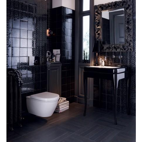 Placa actionare apa WC, Geberit Sigma 20 115778KM1, finisaj negru / crom