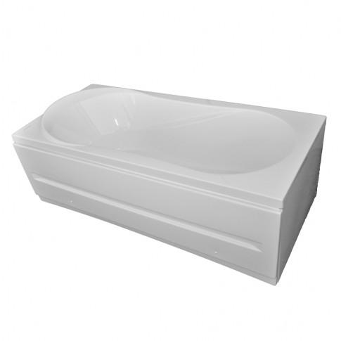 Cada baie rectangulara Martplast Melbourne, acril, masca frontala si suport incluse, 180 x 80 cm