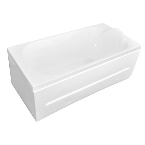 Cada baie rectangulara Martplast Mondo, acril + poliuretan, masca frontala si suport incluse, 170 x 70 cm