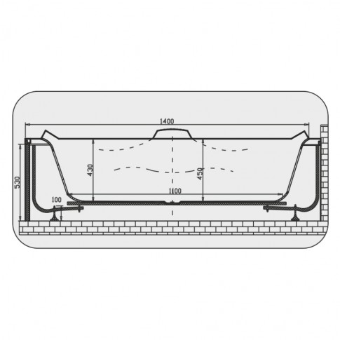 Cada baie cu hidromasaj simetrica, pe colt, Martplast New York, acril, 140 x 140 cm