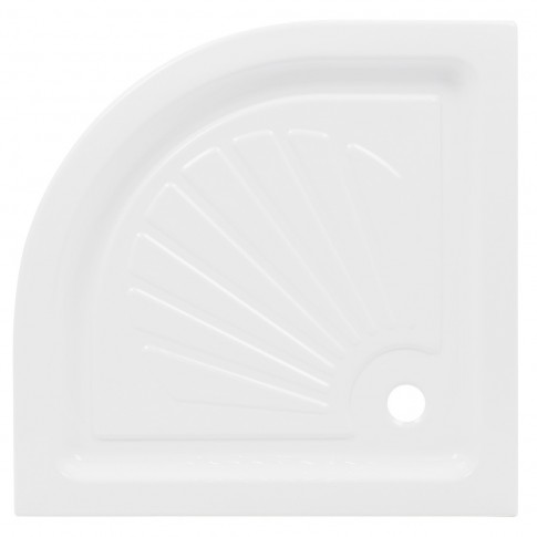 Cadita dus semirotunda Martplast, acril + poliuretan, 80 x 80 x 15 cm