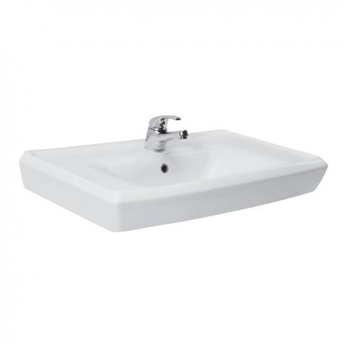 Lavoar Cersanit Roma, alb, dreptunghiular, 81.3 cm