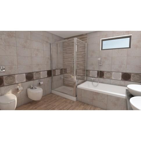 Baterie baie pentru bideu Kludi Bozz 385330576, monocomanda, finisaj cromat
