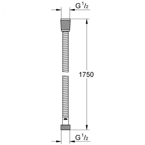 Furtun dus Grohe VitalioFlex Trend 28742001, flexibil, 1.75 m