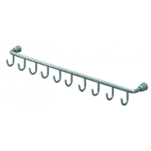 Suport bucatarie, pentru servetele cu 10 carlige, 4098, metal, 60 x 5 x 6 cm