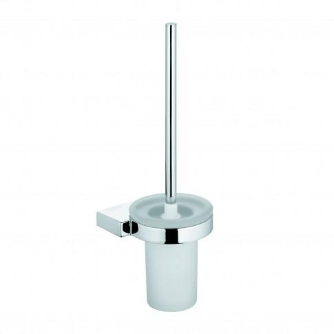 Perie WC Kludi A - Xes 4897405, suspendat, alama + sticla mata, 39 x 13 x 13 cm