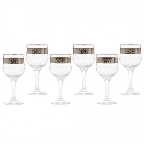 Pahar vin, Penta, din sticla, 240 ml, set 6 bucati