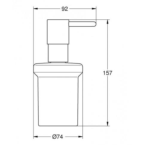 Dozator sapun lichid Grohe Essentials 40394, sticla