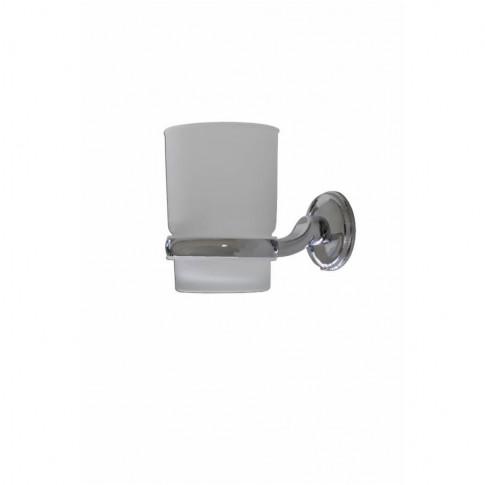 Pahar baie pentru igiena personala, cu suport, Fly 4FSR094060, sticla, prindere pe perete, mat