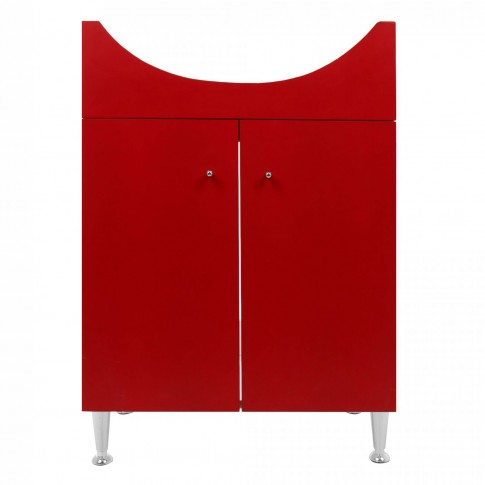 Masca baie pentru lavoar, Martplast Larissa MR-103, cu usi, rosu, 60 x 34 x 72 cm