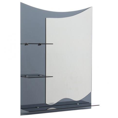 Oglinda baie E169, 60 x 80 cm, 3 etajere