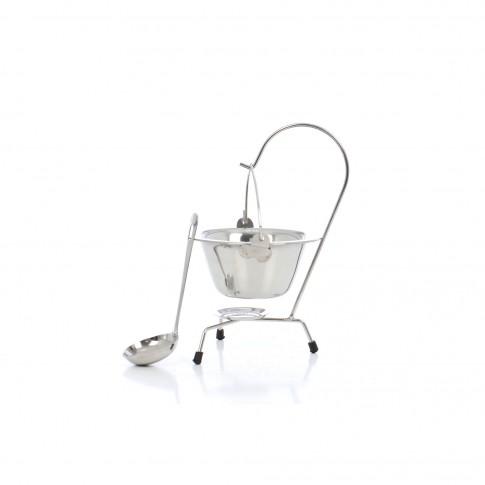 Ceaun inox 40600505, 0.8 L, gri