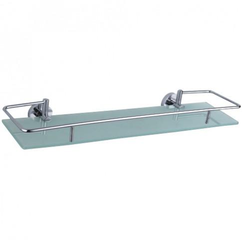 Etajera pentru baie din sticla Kadda Nappy F034, 52 x 14.5 x 6.6 cm