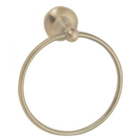 Suport prosop baie Kadda Retro 89710, tip inel, auriu antichizat