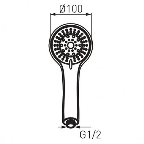 Para dus Ferro Sera S500, crom, 5 functii, sistem anticalcar