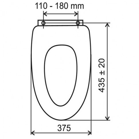 Capac WC din MDF, Ferro Bambus, finisaj bambus, inchidere standard, 37.5 x 43.5 cm