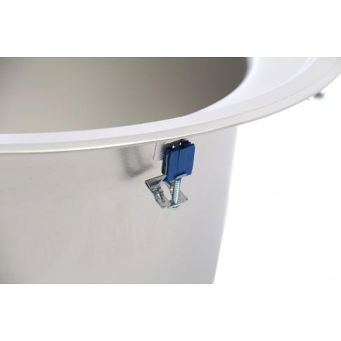 Chiuveta bucatarie inox panzat Blanco Rondoval rotunda 53.5 x 49 cm + baterie Daras + dozator Craton