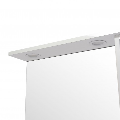 Dulap baie cu oglinda, iluminare si polita, 1 usa, dreapta, Emilia 70, alb, 68 x 14.5 x 70.5 cm
