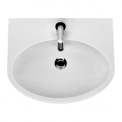 Lavoar Cersanit Parva K27-012/K27-031, alb, rotunjit, 60 cm