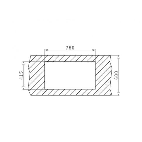 Chiuveta bucatarie inox linen Pyramis ET78 Fork cuva pe stanga 78 x 43.5 cm