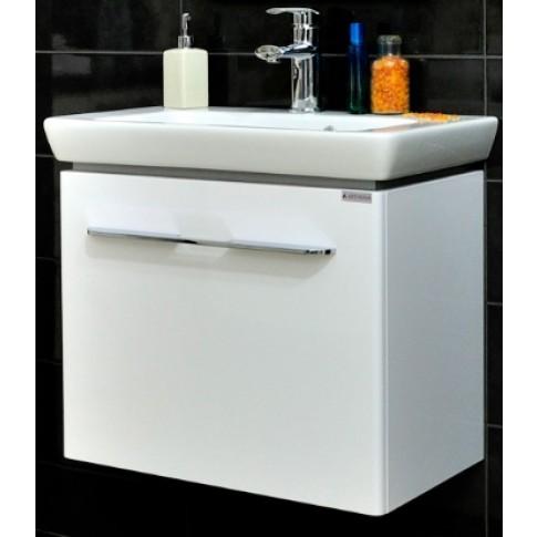 Masca baie pentru lavoar, Arthema Porto 401 - A2, cu sertar, alba, montaj suspendat, 60 x 35.5 x 50 cm