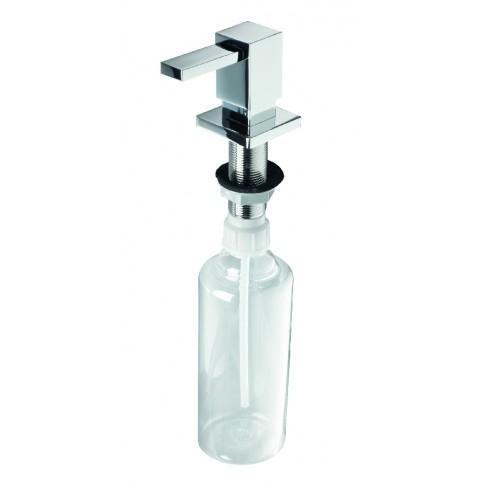 Dozator detergent lichid Alveus 1069687, transparent, cu cap patrat cromat, 0.5 litri