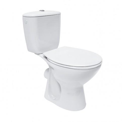 Set vas WC + rezervor + mecanism + capac Kadda Keops K08 - 028, din ceramica, 37.5 x 64.5 x 75 cm
