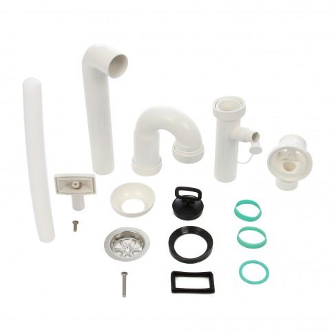 """Sifon, Eurociere 5222TP, racord masina de spalat, ventil, preaplin, 1""""1/2"""