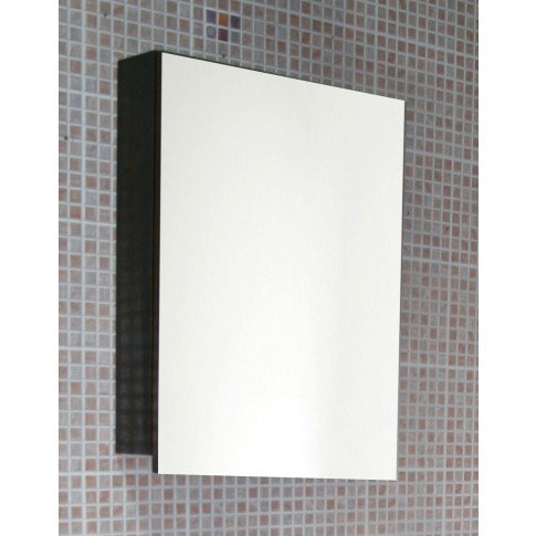 Dulap baie cu oglinda, 1 usa, Arthema Neo 377 - W, wenge, 50 x 12.8 x 66.5 cm