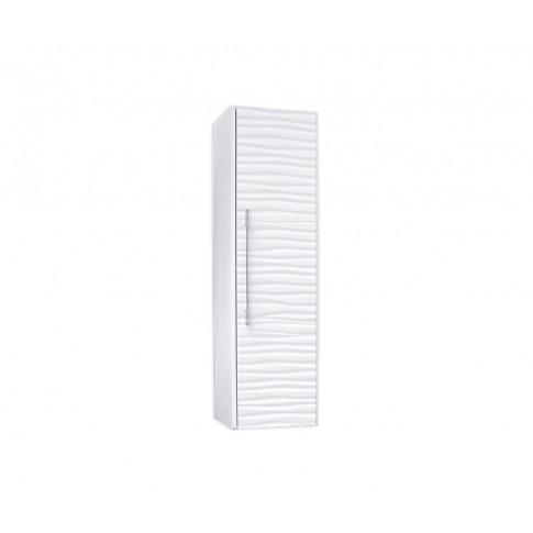 Dulap baie suspendat, Wave, 1 usa, alb, 34 x 120 x 34 cm