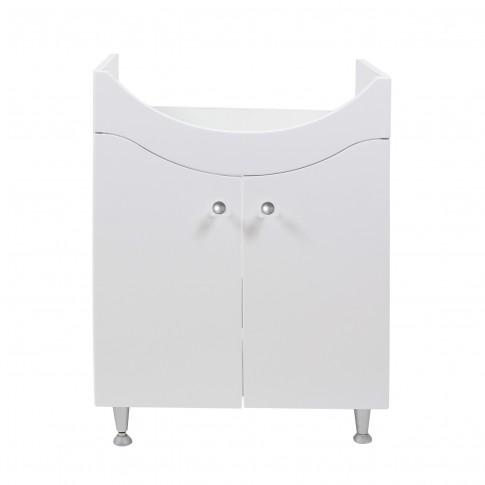 Masca baie pentru lavoar, Cleo, cu usi, alba, 52 x 32 x 78 cm
