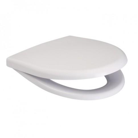 Capac WC din duroplast, Cersanit Roma K98-0005, alb, inchidere standard, 367 x 451 mm