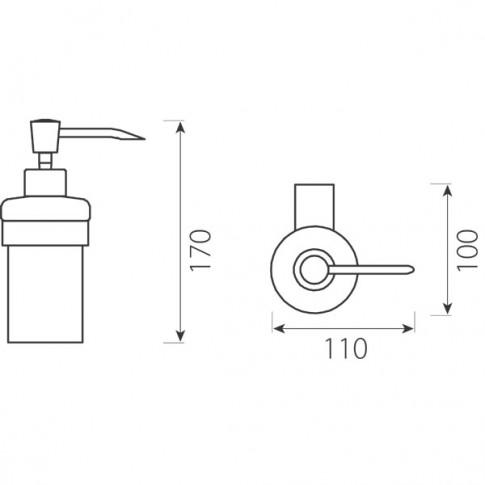 Dozator sapun lichid Ferro Audrey AD34, sticla, montaj suspendat