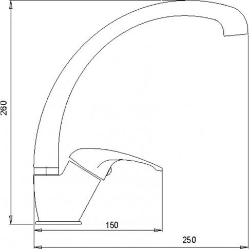 Baterie bucatarie, Ferro Metalia 57 57014, stativa, monocomanda, alama, finisaj cromat