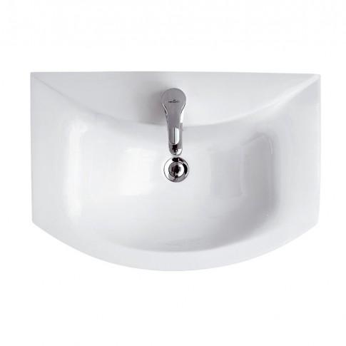 Lavoar Cersanit Omega K110003, alb, rotunjit, 65 cm