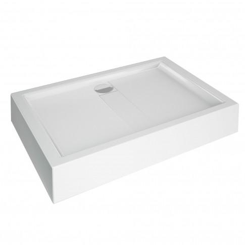Cadita de dus rectangulara Martplast Toledo, alb, 120 x 80 cm