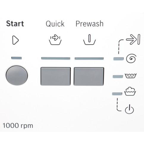 Masina de spalat rufe Bosch WAB20061BY, 5.5 kg, 1000 rpm, clasa A+, functie ActiveWater, adancime 55 cm, alb